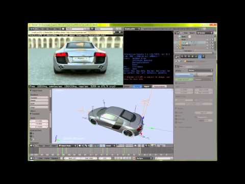 Audi r8 animation test rendered with SmallLuxGPU 1.6 ( OpenCL )