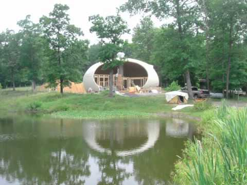 Chuck Peters Monolithic Dome Home - YouTube