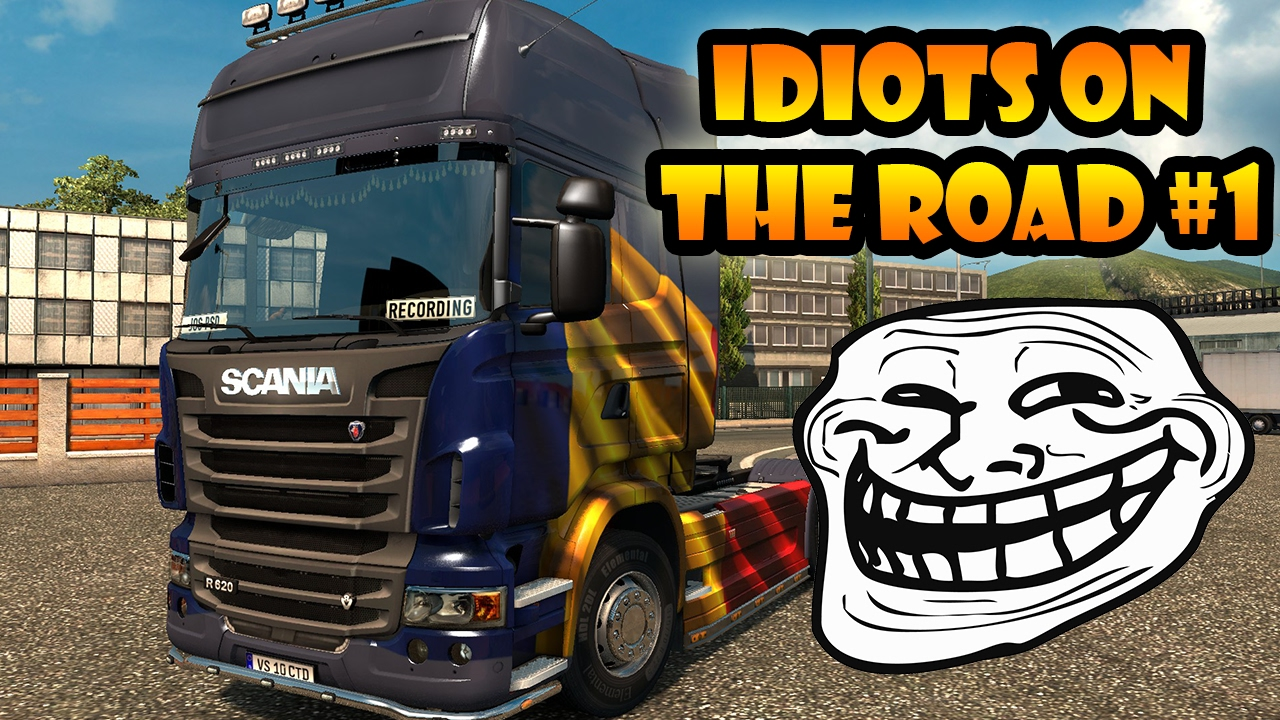 idiots on the road 1 ets2mp funny moments euro. Black Bedroom Furniture Sets. Home Design Ideas