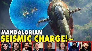 Reactors Reaction To Boba SEISMIC CHARGE On The Mandalorian Season 2 Episode 7 | Mixed Reactions