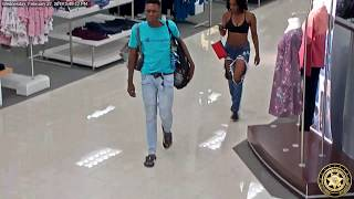 Surveillance video: Couple allegedly shoplifting in Kohl's
