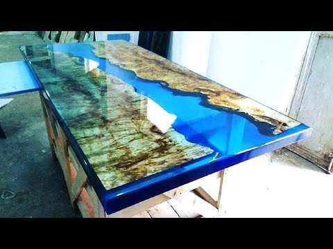 10 Extreme Woodworking Epoxy Resin Wood Table in ACTION, Most Resin Table Solid Wood Tables Skills