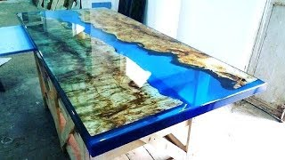 Epoxy Resin Wood Table