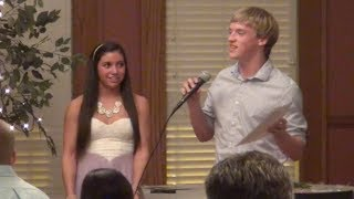 Coed Elite Jordan Lukens and Maddy Gibbons Speech Banquet 2014