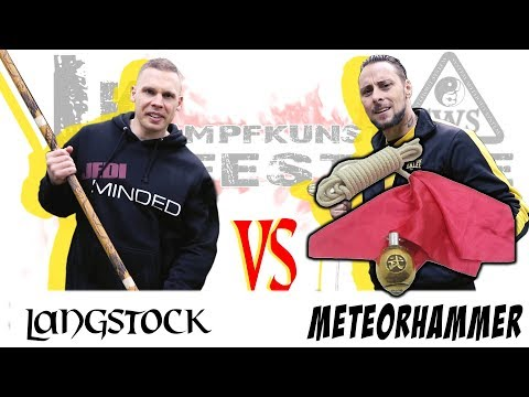 Meteorhammer VS Langstock - Kung Fu Waffen im Test | KAMPFKUNST LIFESTYLE