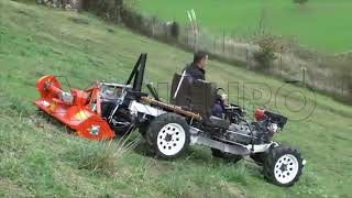 Funzionamento del trincia per trattore serie leggera Agrieuro FU 112