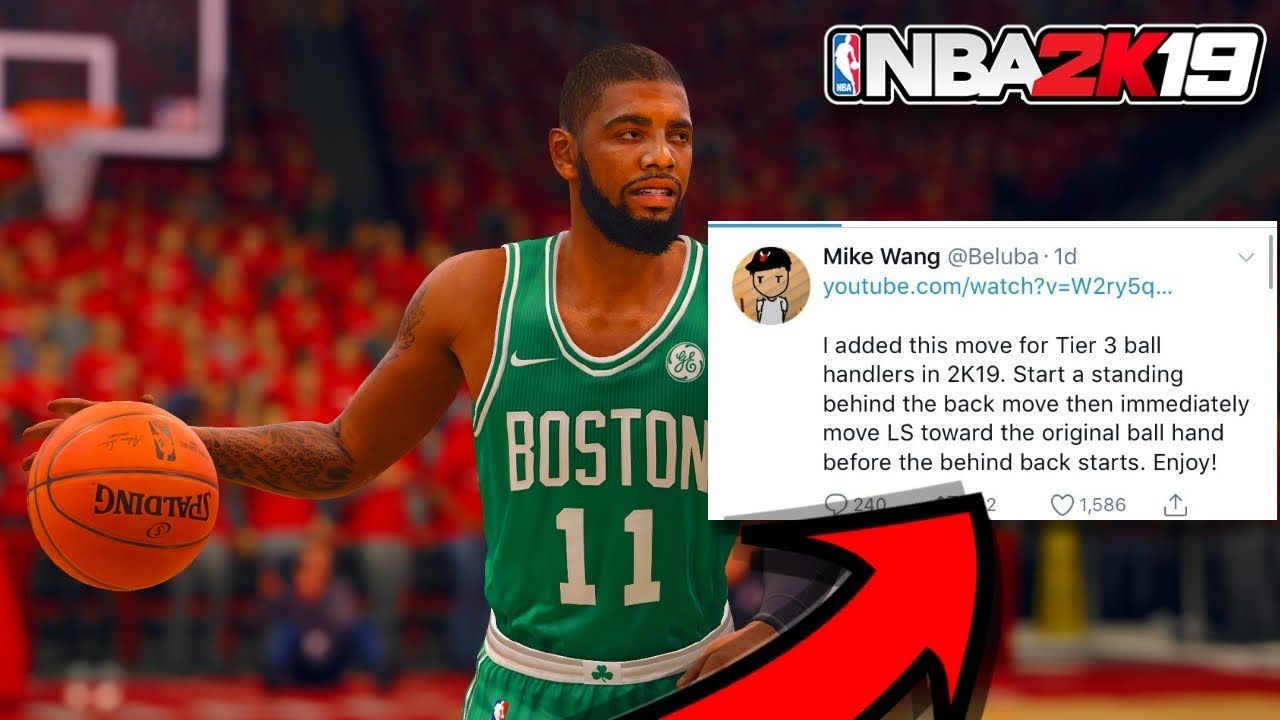 online store 76081 d0fa7 KYRIE irving DRIBBLE MOVE LEAKED ! (NBA 2K19 GAME PLAY )