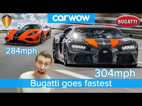 304mph in a Bugatti Chiron – see how it destroys the Koenigsegg Agera RS!