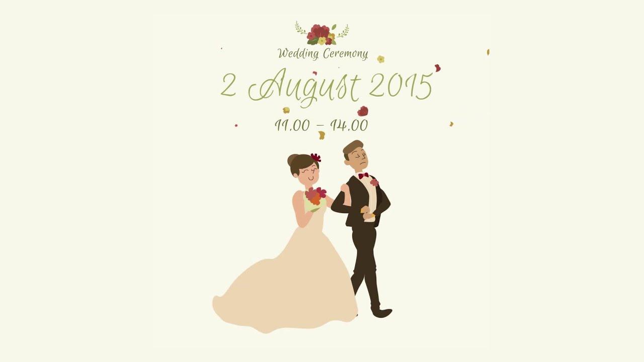 Mega Rasyid Animated Wedding Invitation Youtube