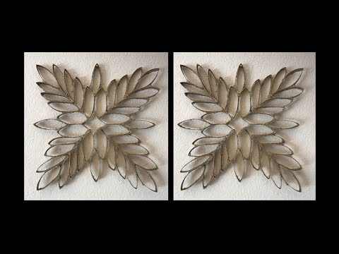 DIY: Wall Art out of Paper Towel Rolls