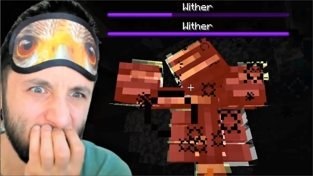2 WİTHERE Karşı 1 LAZER (ciddi ciddi ölüyordum) Minecraft Tek Hardcore 23.Bölüm