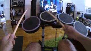 Xbox 360 Rock Band 2 Special Edition - Drumset Test