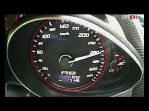 315 km/h en Audi R8 V10 (Option Auto)