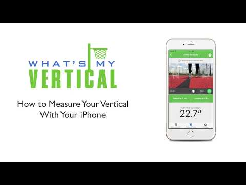 How to Measure Your Vertical Jump With Your iPhone