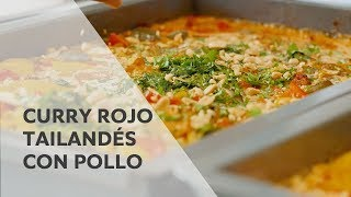 Receta: Curry rojo tailandés con pollo | SelfCookingCenter de RATIONAL