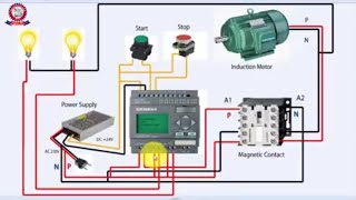PLC Programming Tutorial Bangla Class 05 - Motor on off with signal lamps