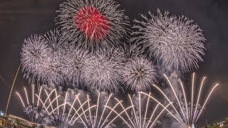 [4K 桟敷席] 最高!2017 『土浦花火づくし』 土浦花火競技会 超大型スターマイン