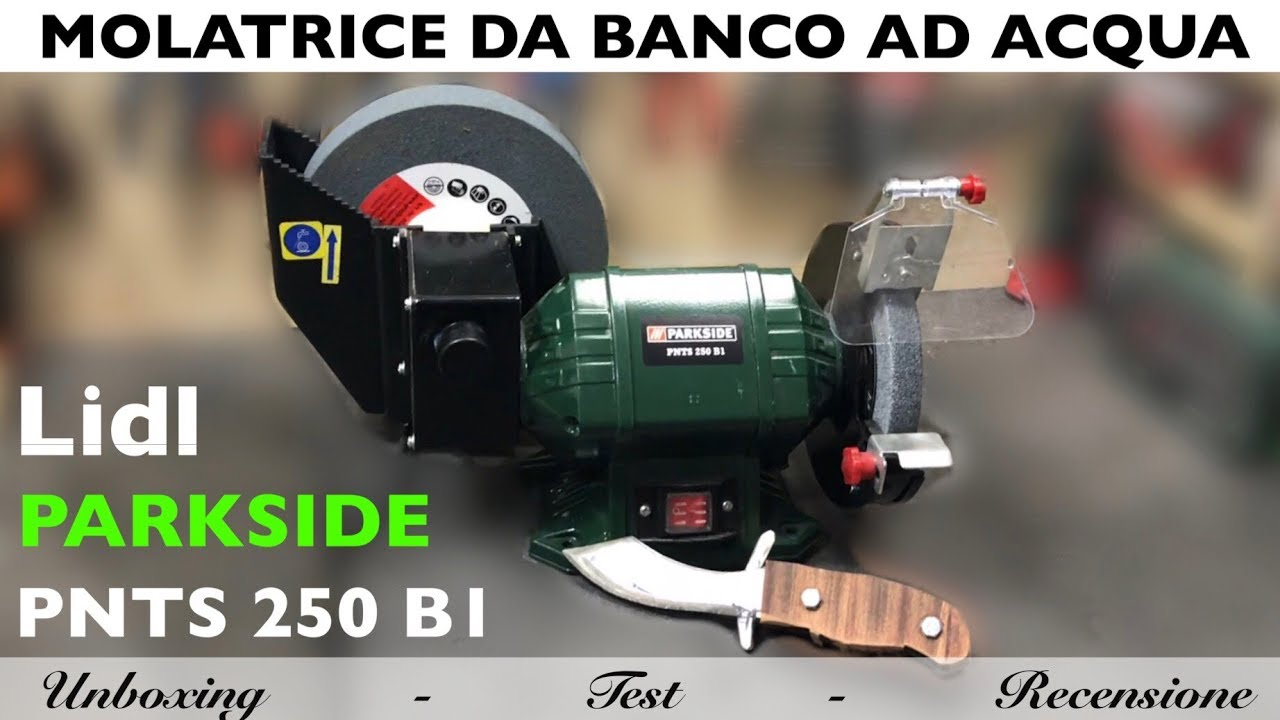 Smerigliatrice Da Banco Ad Acqua.Bench Top Edging Water Lidl Parking Pnts 250 B1 Sharpening Machine For Blades Chisels And More