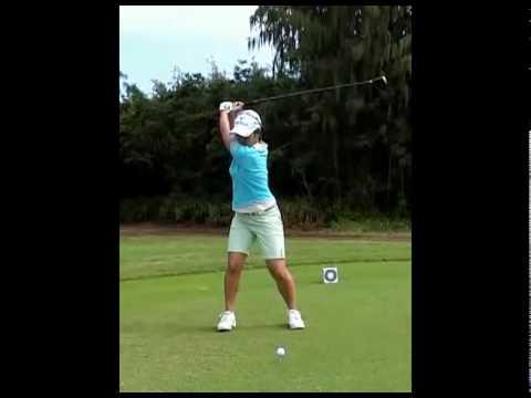 ゴルフ 宮里藍 スイング スローモーション