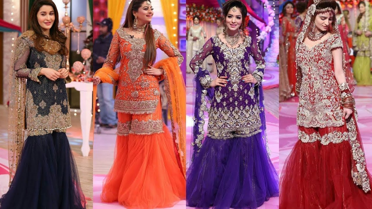 8956f3375a Latest sharara/gharara suits for wedding functions#Latest Pakistani Sharara/  heavy dresses