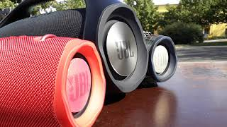 2 JBL XTREME 2 amp JBL BOOMBOX BASS TEST LOW FREQUENCY