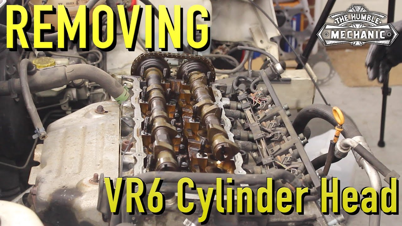 Removing A Vr6 Cylinder Head Whitewookie Diagram 2002 Jetta 24v Engine