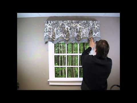 Country Style Valance  -  How to Hang