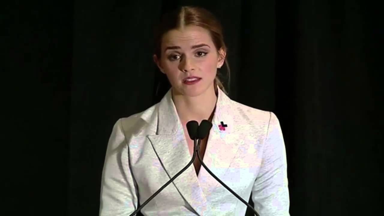 emma watson at un speech he for she speech youtube