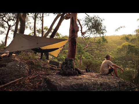 Wild Aussie Hammock Camping In A THUNDERSTORM! // New Bushcraft Knife.