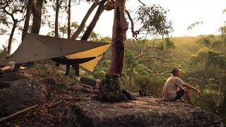 Wild Aussie Hammock Camṗing in a THUNDERSTORM! // New Bushcraft Knife.