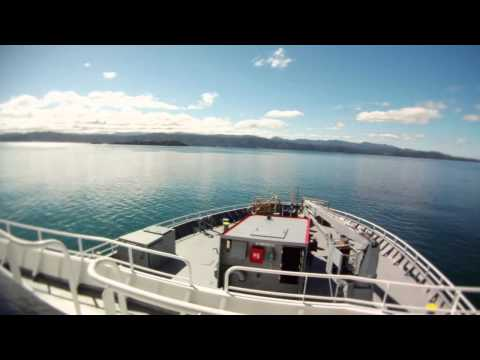 Time-lapse video of RV, Tangaroa departing Wellington for Antarctica