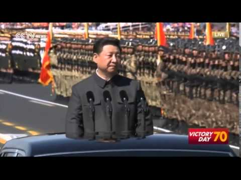 Beijing, China: President Xi Jinping inspecting formations from PLA