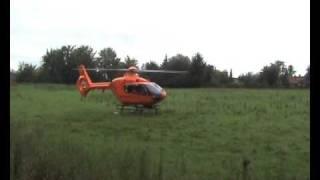 Rettungshubschrauber RTH Christoph 12 in Ostholstein (Gnissau) beim Start