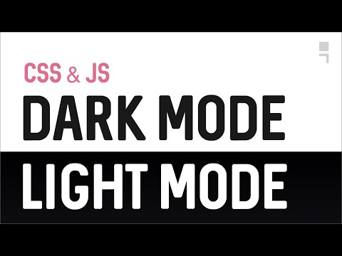 Website Dark & Light Mode - How to Color Theme Website with CSS & Javascript