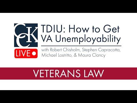 TDIU: How to get VA Unemployability [CCK LIVE]