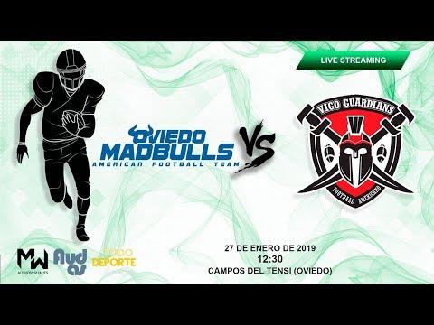 27/01/19 Partido Futbol Americano - Oviedo Mad Bulls vs. Vigo Guardians