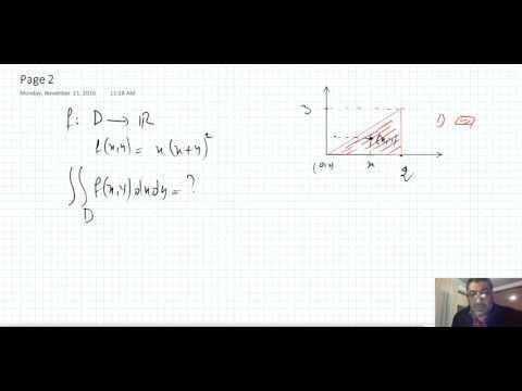 Introduction aux intégrales doubles et triples.  Partie 1