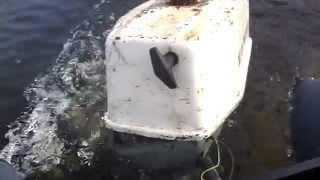 двигун салют Е і човен аква 2800 випробування на озері