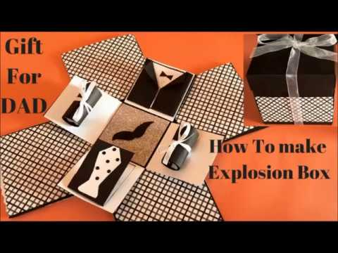 Explosion box | diy  gift for dad from daughter | exploding box diy