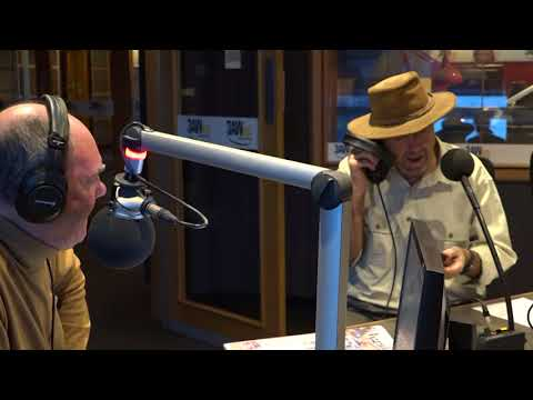 Russell Coight in the studio with Ross and John