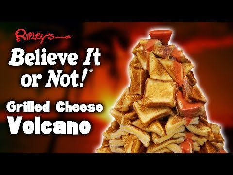 DIY GRILLED CHEESE VOLCANO