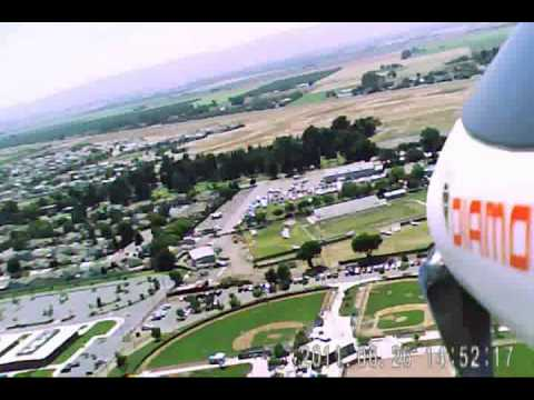 Flying my model plane over Dixon, CA