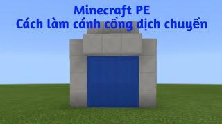 Minecraft PE: Cách làm cánh cổng dịch chuyển