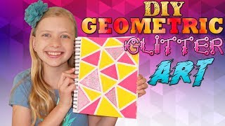 SUPER GLITTER Easy Geometric Art || Art with Alyssa