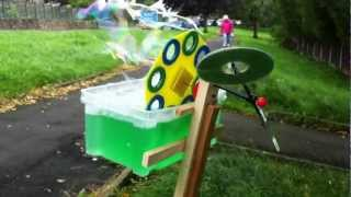 Wind Powered Bubble-machine