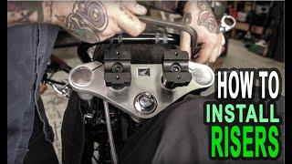 Honda Shadow Deca Riser Installation - HOW TO!