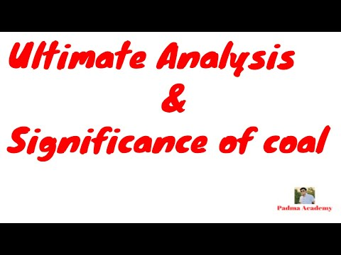 Ultimate Analysis & Significance Of Coal