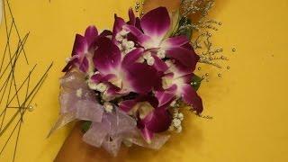 Цветочный браслет из орхидей своими руками