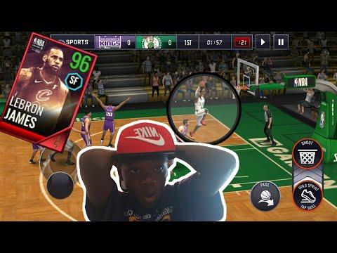 96 AWARD WINNER MVP LEBRON JAMES GAMEPLAY NBA LIVE MOBILE 18