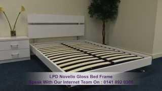 Lpd Novello Gloss Bed Frame